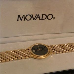 Movado Watch Gold Tone Museum Piece
